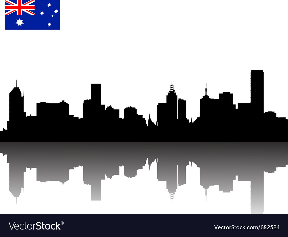 Melbourne silhouette skyline vector | Price: 1 Credit (USD $1)