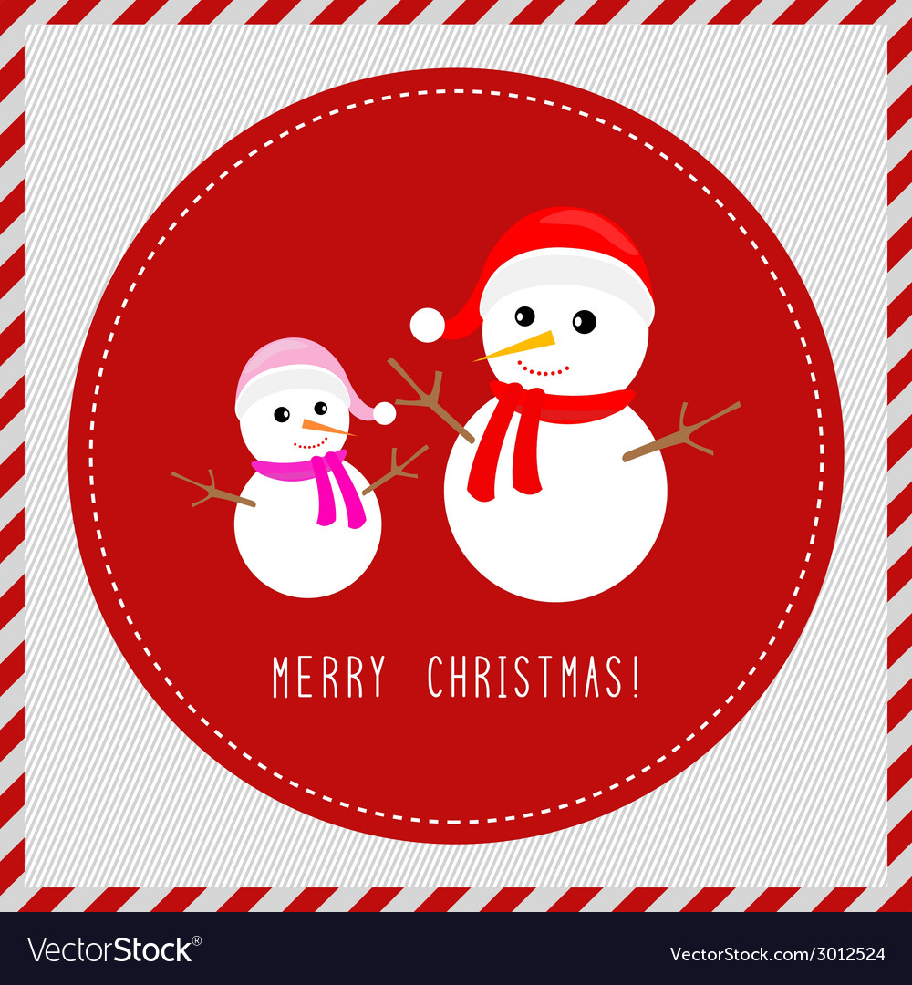 Merry christmas greeting card3 vector | Price: 1 Credit (USD $1)