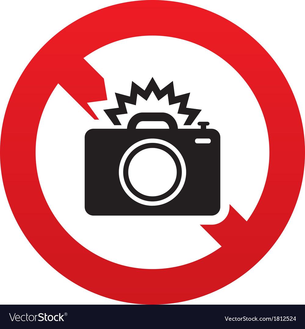 No photo camera sign icon photo flash symbol vector   Price: 1 Credit (USD $1)