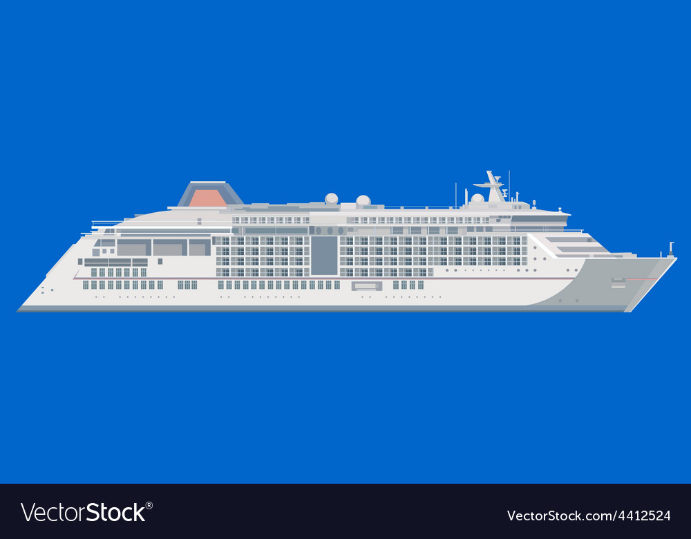 Ocean liner on a blue background vector | Price: 1 Credit (USD $1)