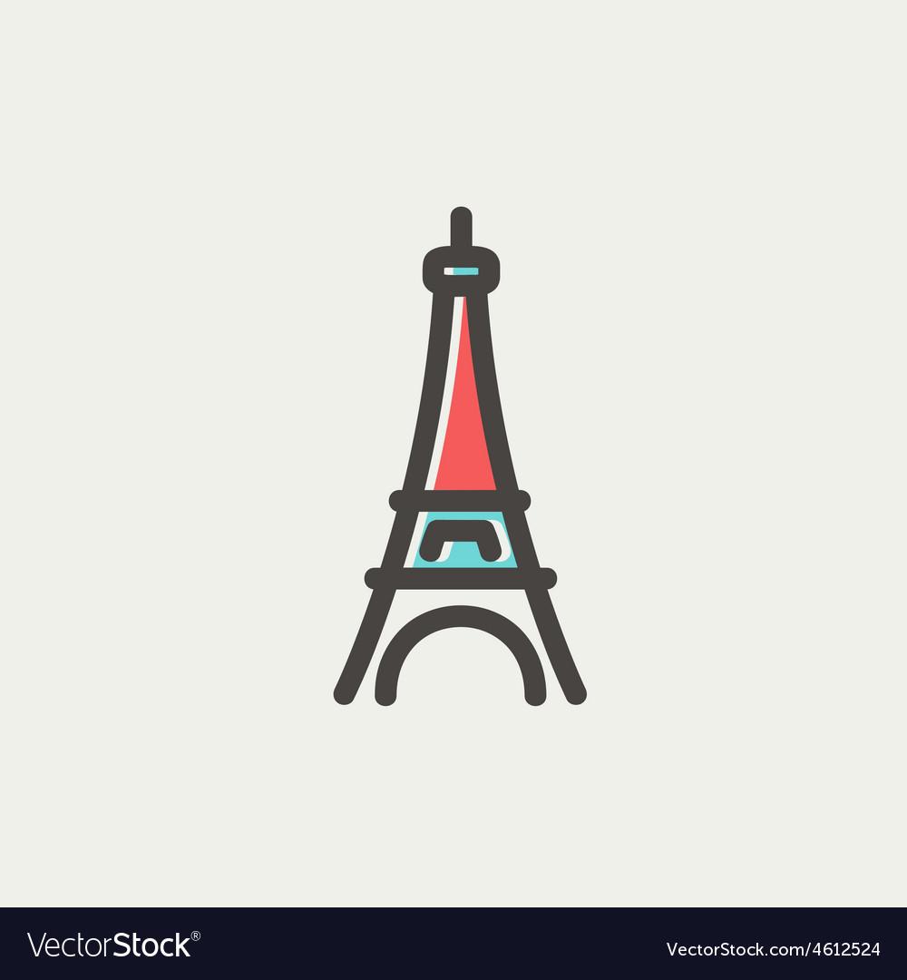 Paris tower thin line icon vector | Price: 1 Credit (USD $1)