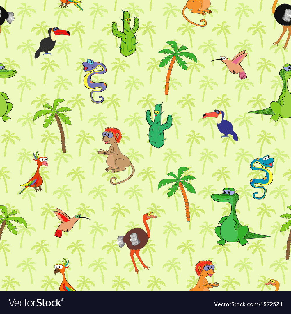 Seamless animals 2 vector | Price: 1 Credit (USD $1)