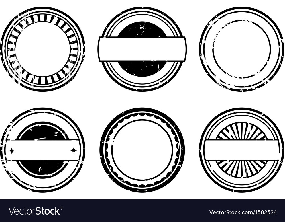 Set of blank black rubber stamps vector | Price: 1 Credit (USD $1)