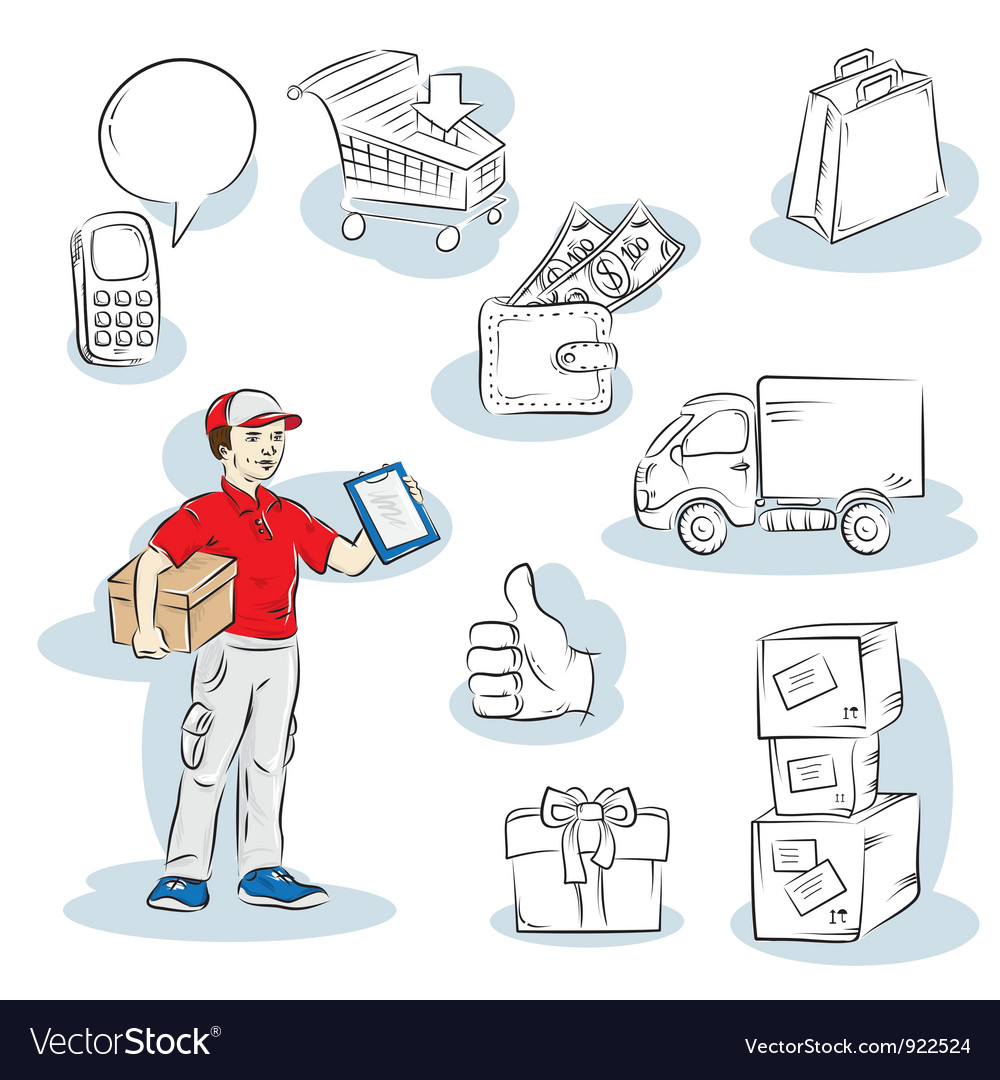 Shopping delivery vector | Price: 1 Credit (USD $1)