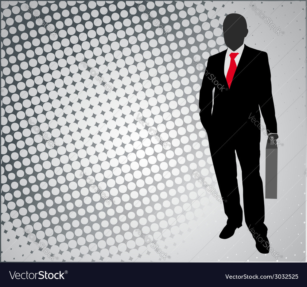 Businessman on the abstract background vector | Price: 1 Credit (USD $1)