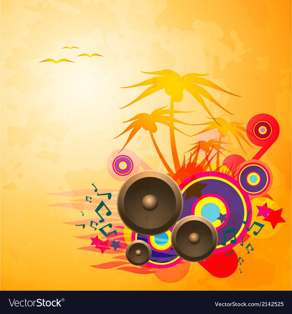 Disco dance tropical music flyer vector | Price: 1 Credit (USD $1)