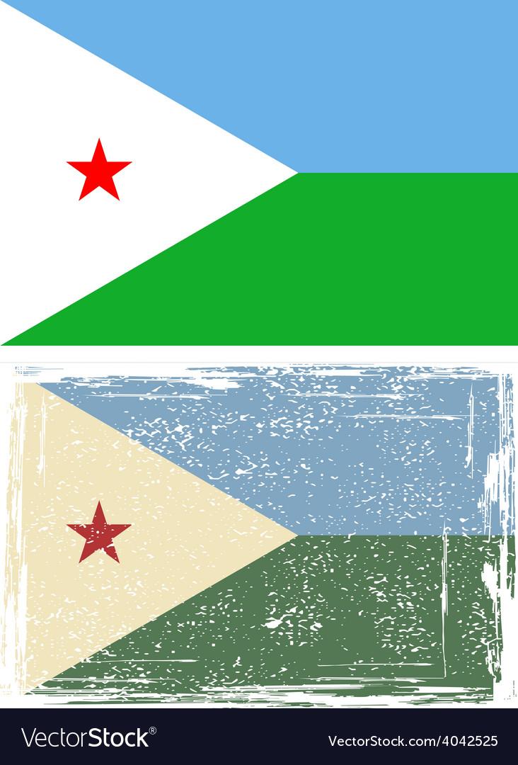 Djibouti grunge flag vector | Price: 1 Credit (USD $1)