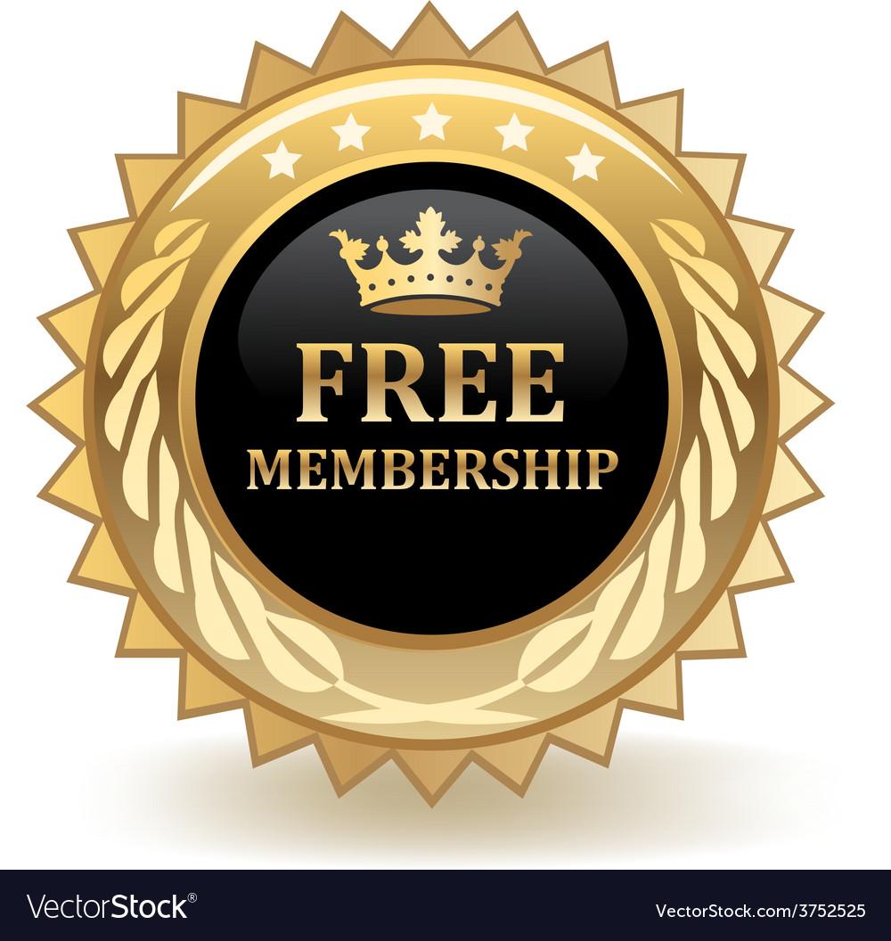 Free membership badge vector | Price: 1 Credit (USD $1)