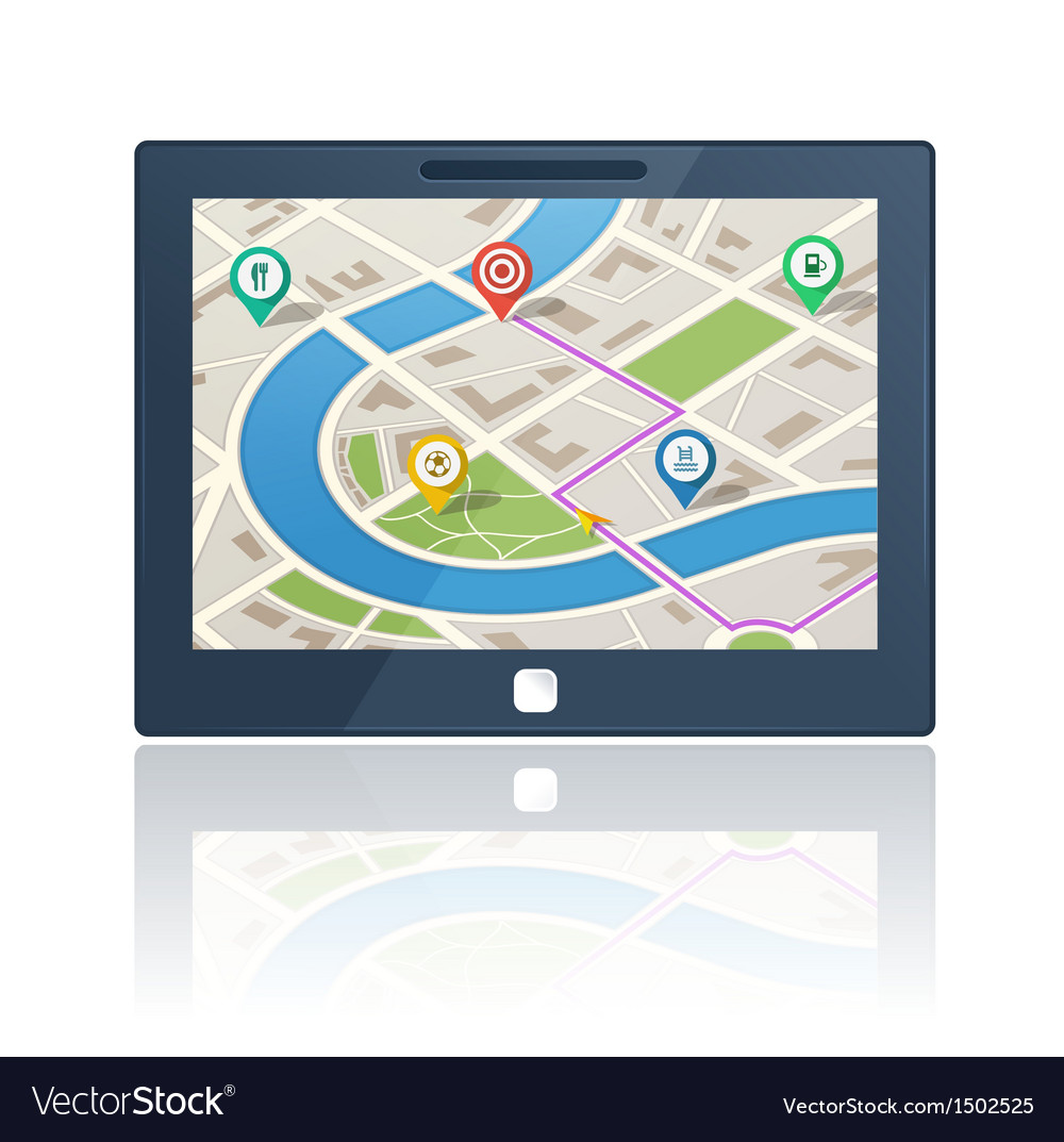 Gps navigation device vector | Price: 3 Credit (USD $3)