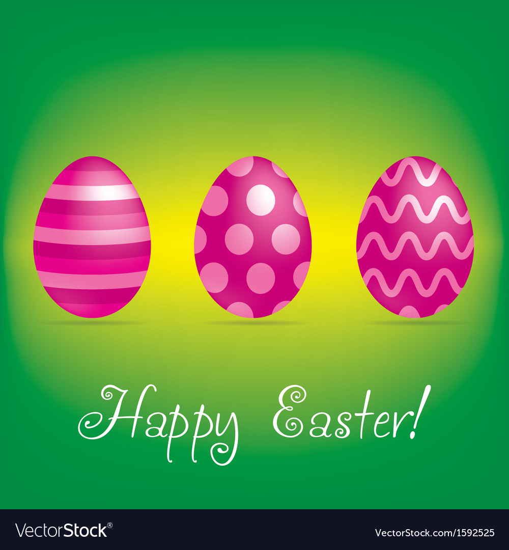 Happy easter card vector | Price: 1 Credit (USD $1)