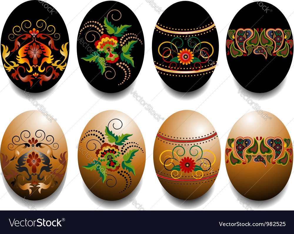 Ornamented easter eggs vector | Price: 1 Credit (USD $1)
