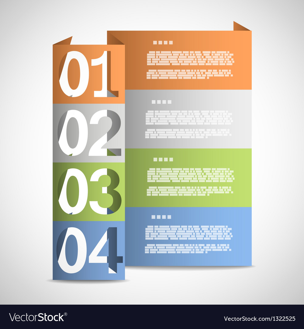 Paper options template eps10 vector | Price: 1 Credit (USD $1)