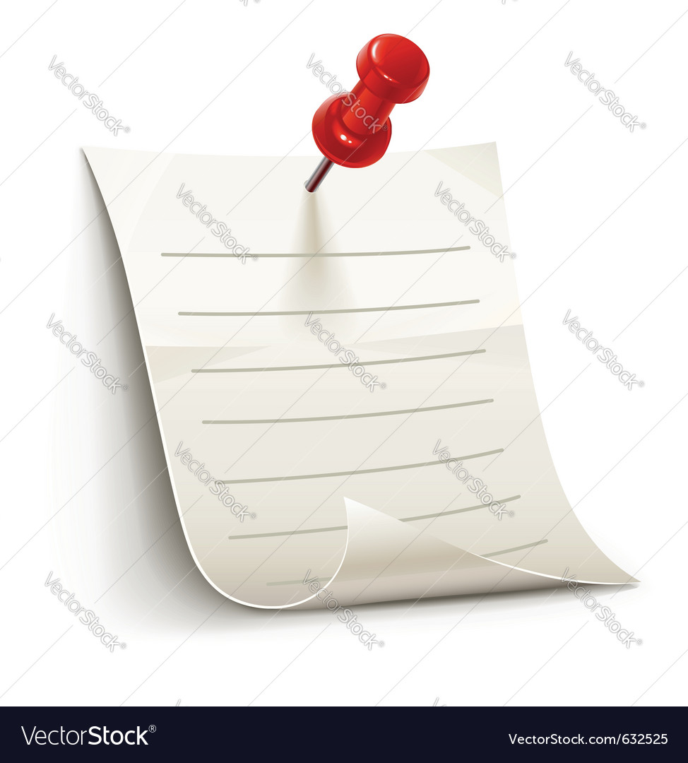 Sheet of paper for notes vector | Price: 1 Credit (USD $1)