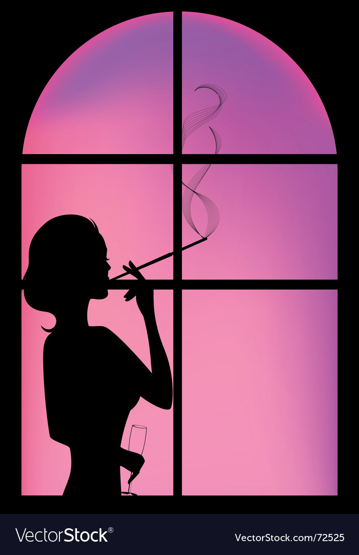 Silhouette window vector | Price: 1 Credit (USD $1)