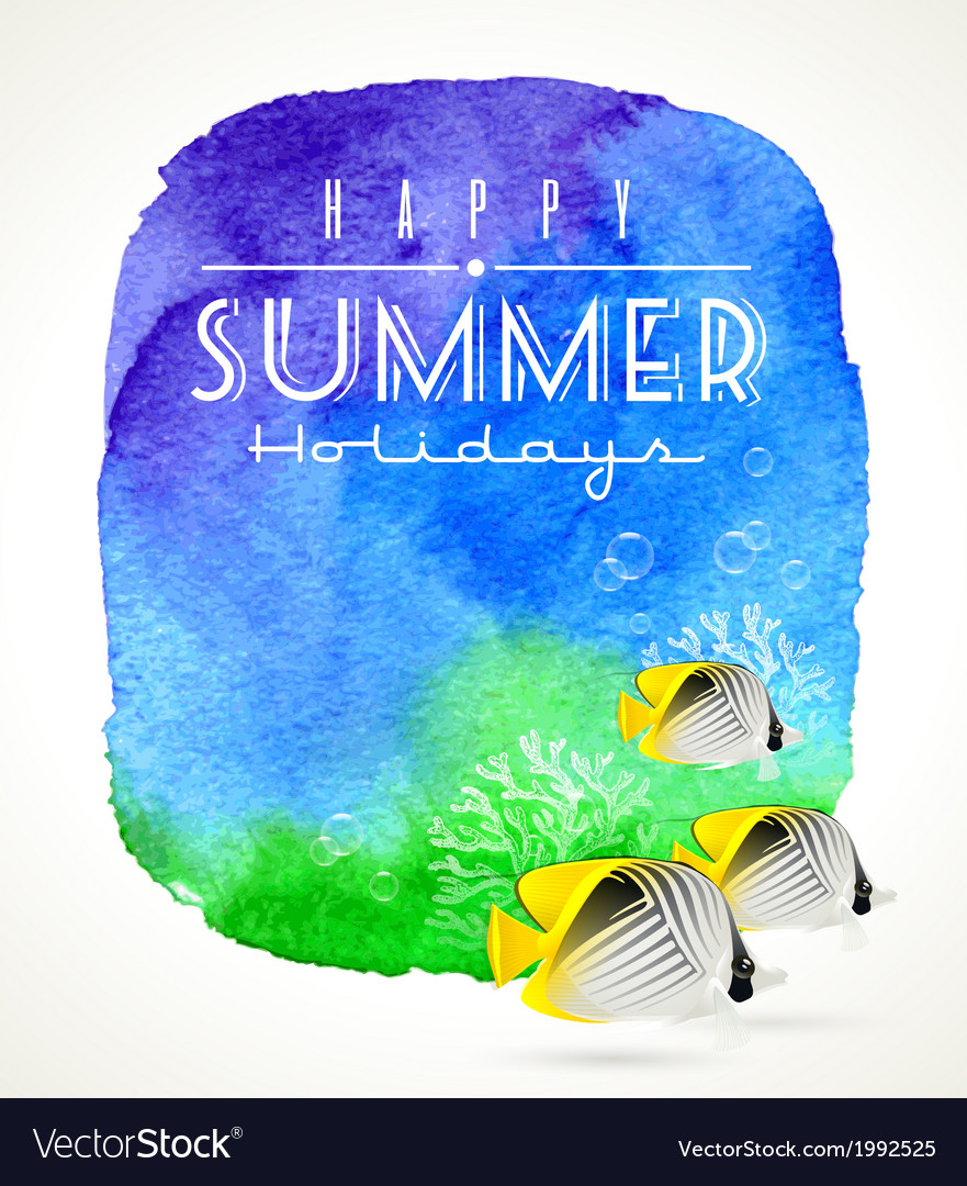 Summer holidays design vector | Price: 1 Credit (USD $1)