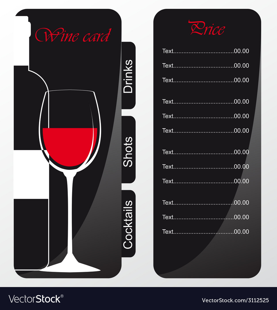Templates of alcohol card vector | Price: 1 Credit (USD $1)