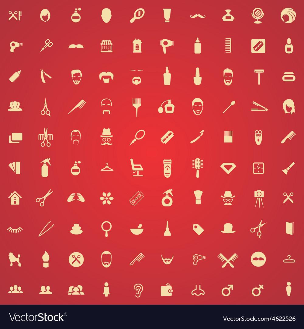 100 barbershop icons vector | Price: 1 Credit (USD $1)