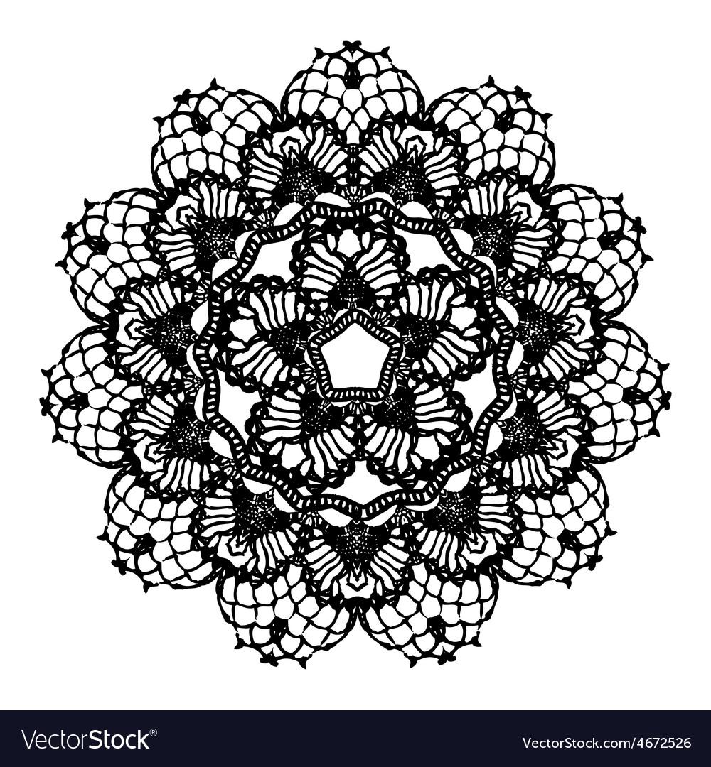 Black crochet doily vector | Price: 1 Credit (USD $1)