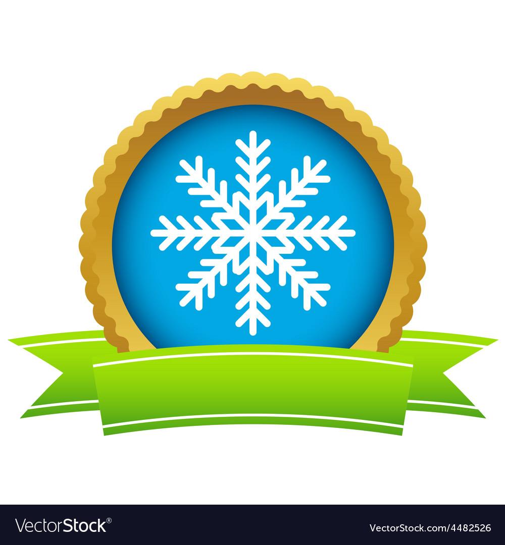 Gold snowflake logo vector | Price: 1 Credit (USD $1)