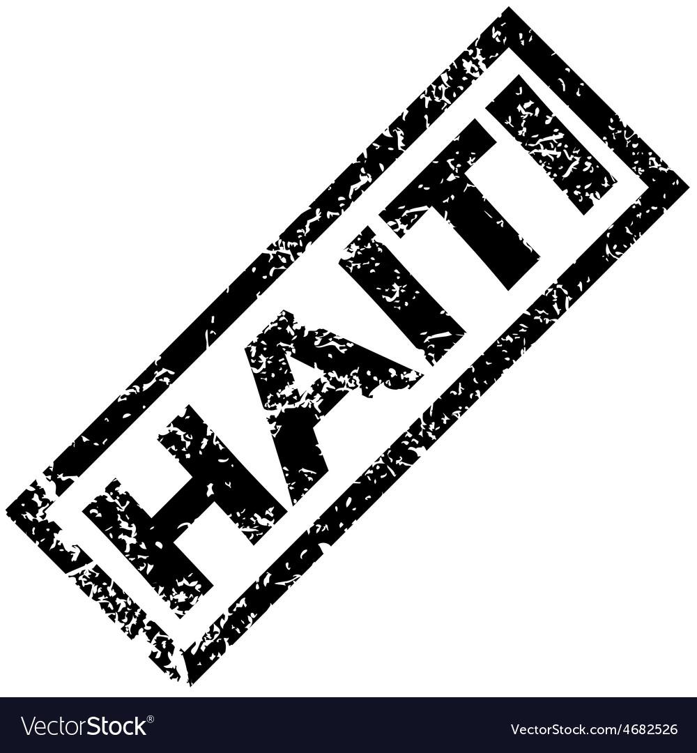 Haiti rubber stamp vector | Price: 1 Credit (USD $1)