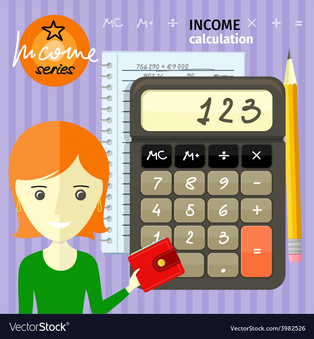 Income calculation concept vector | Price: 1 Credit (USD $1)