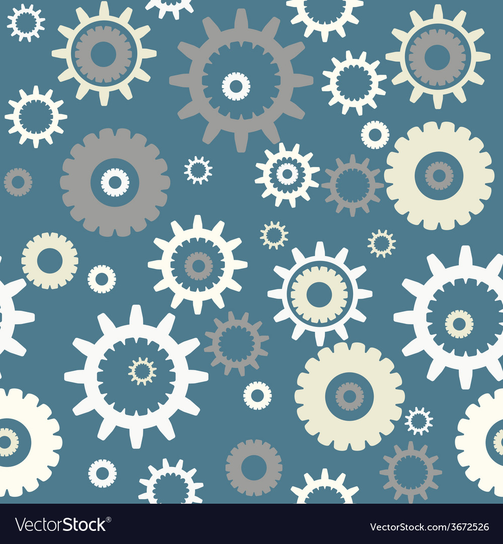 Seamless pattern with gears vector | Price: 1 Credit (USD $1)