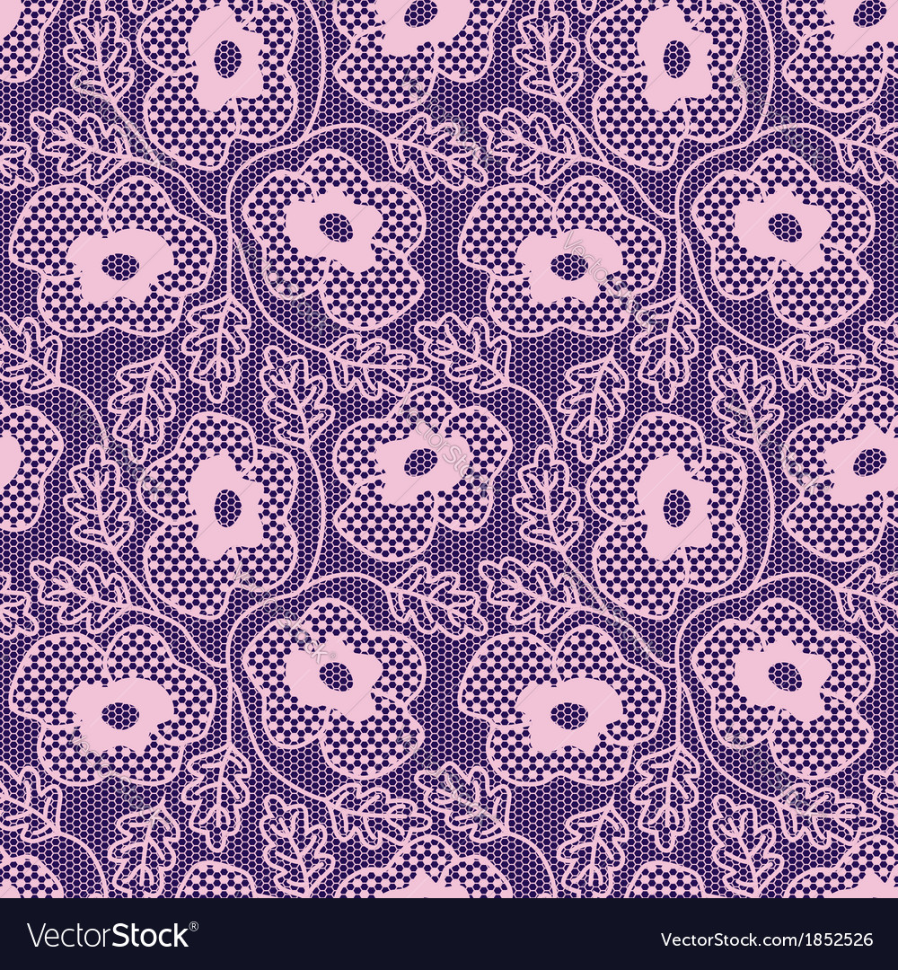 Seamless pink flower lace pattern vector | Price: 1 Credit (USD $1)