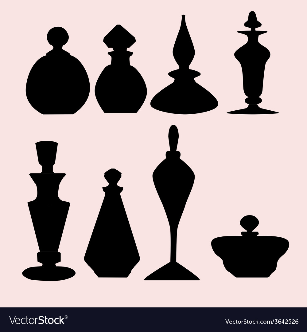 Silhouettes bottles vector | Price: 1 Credit (USD $1)