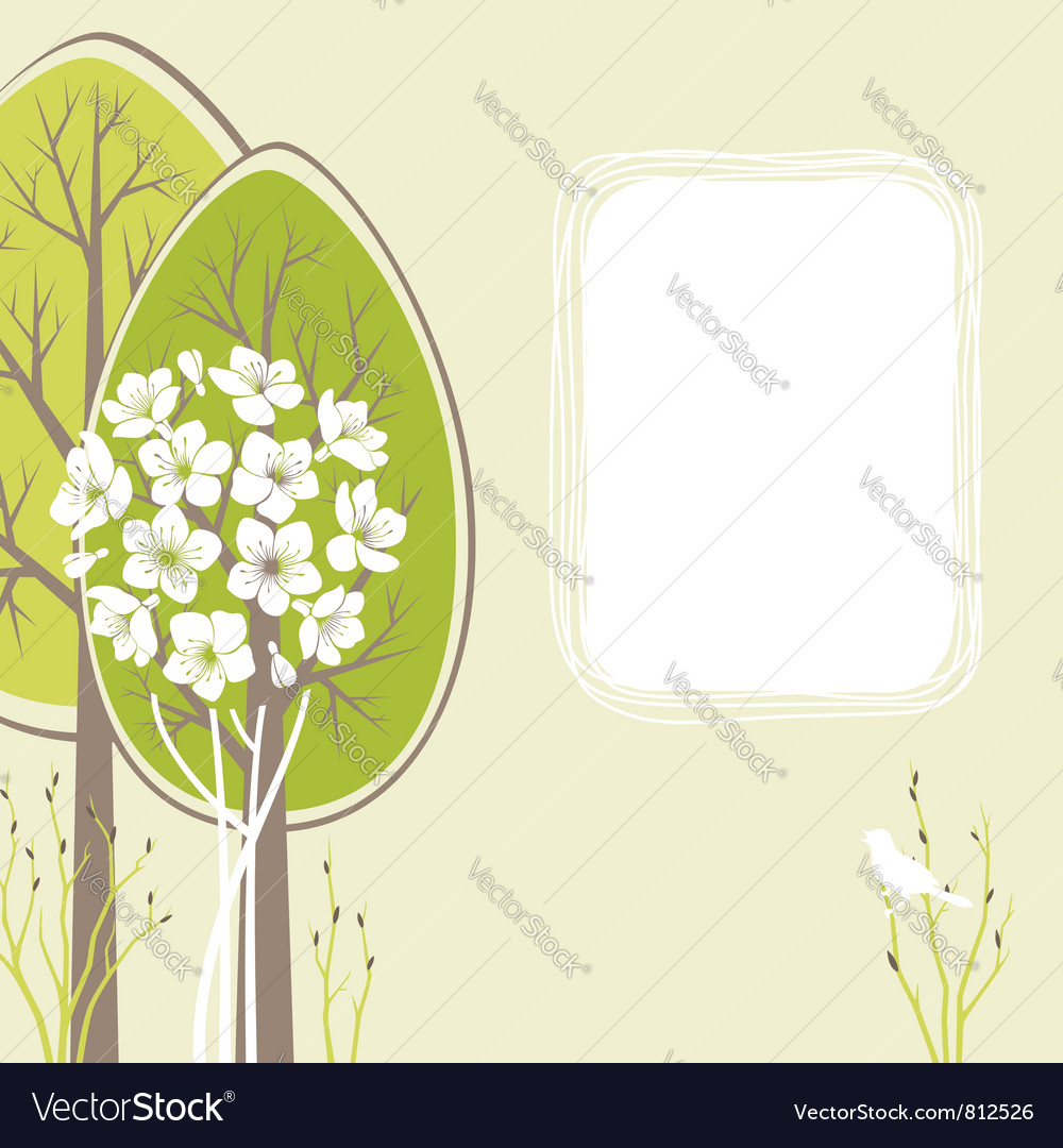 Spring card vector | Price: 1 Credit (USD $1)