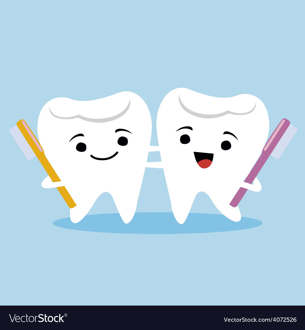 Tooth couple vector | Price: 1 Credit (USD $1)