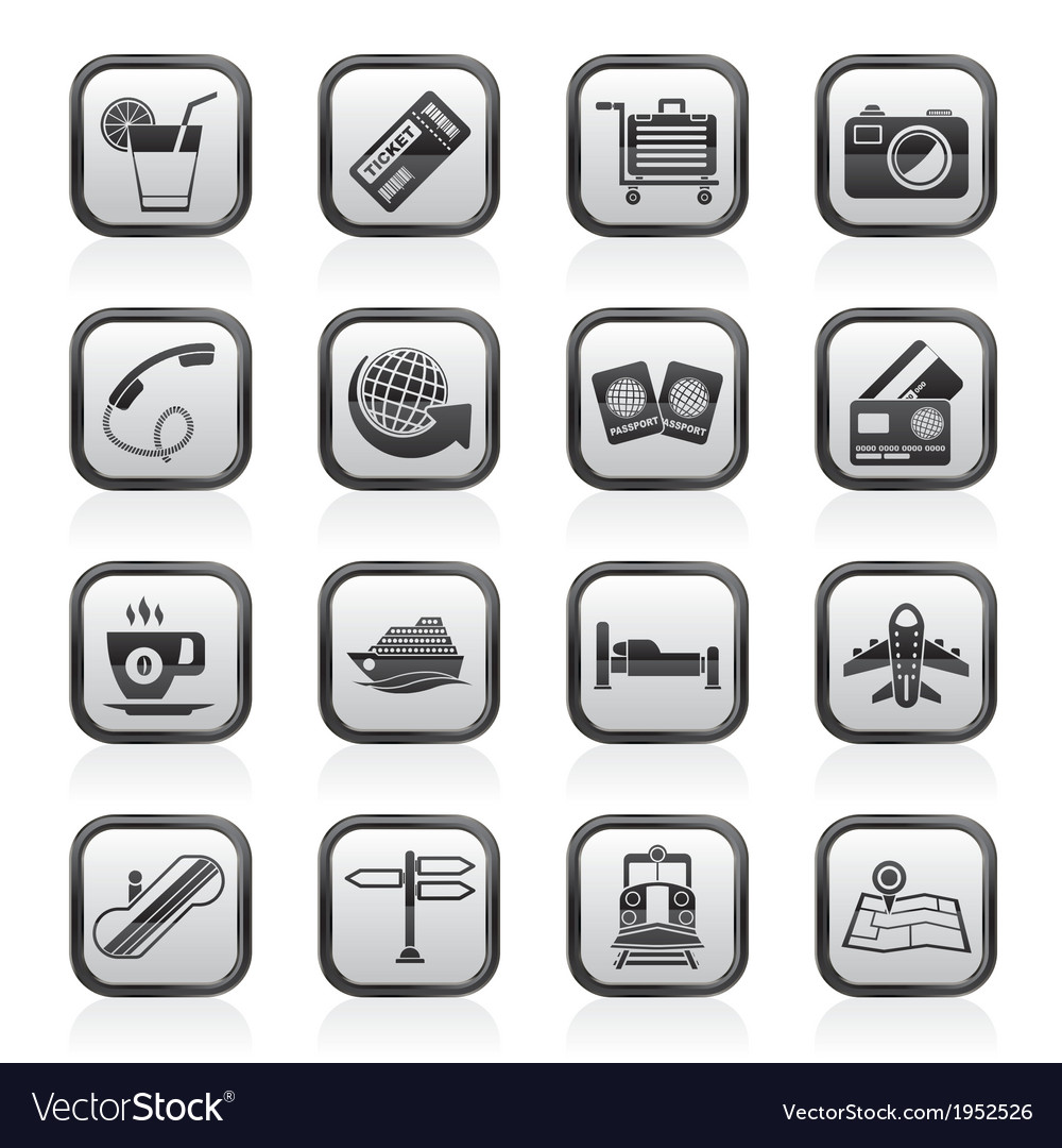 Travel and vacation icons vector | Price: 1 Credit (USD $1)
