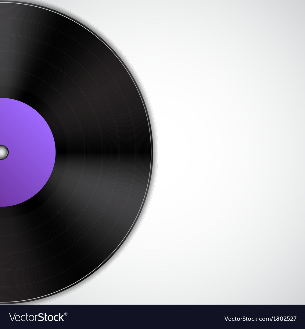 Background with vinyl record vector | Price: 1 Credit (USD $1)