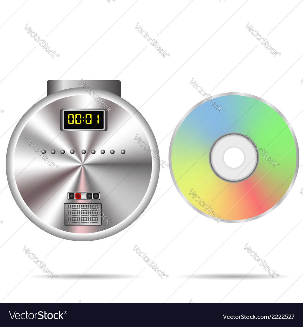 Cd player and compact disc vector | Price: 1 Credit (USD $1)