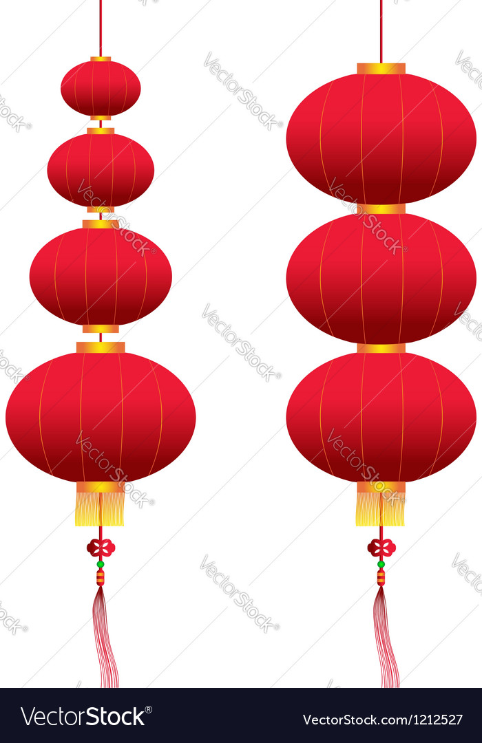 Chinese hanging lanterns vector | Price: 1 Credit (USD $1)