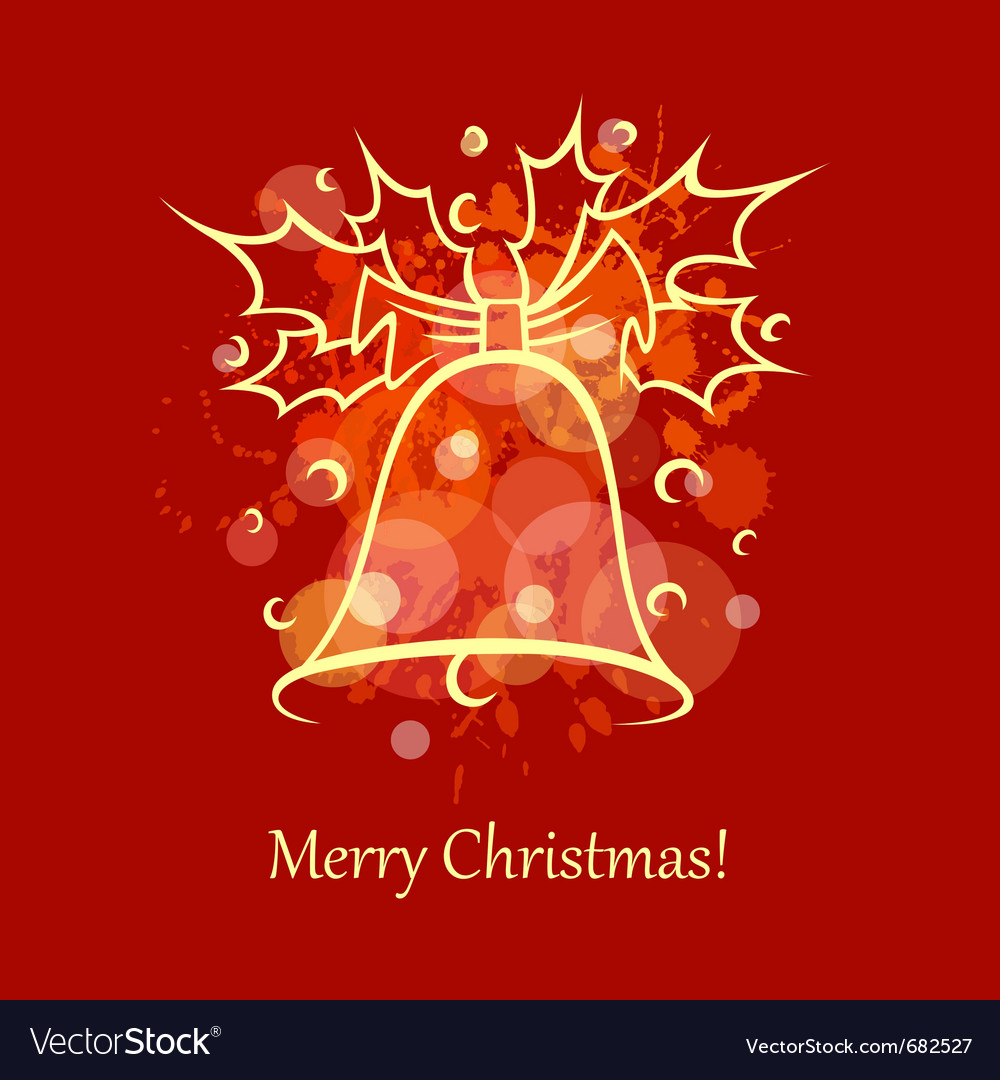 Christmas card bell vector | Price: 1 Credit (USD $1)