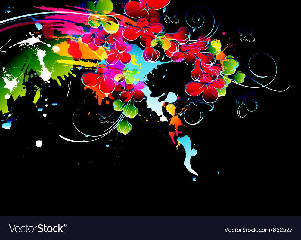 Colorful splatter vector | Price: 1 Credit (USD $1)