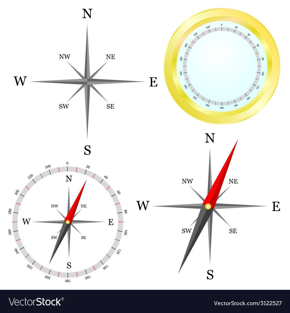 Compass in parts vector | Price: 1 Credit (USD $1)