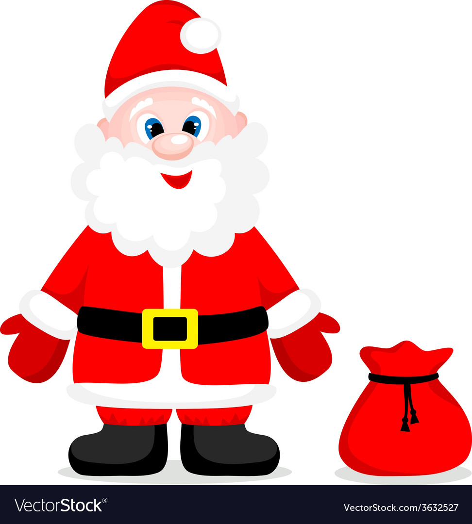 Happy santa with gift vector | Price: 1 Credit (USD $1)