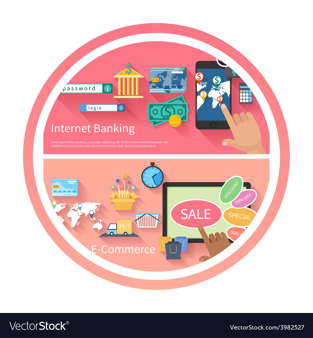 Internet banking and e-commerce concept vector | Price: 1 Credit (USD $1)