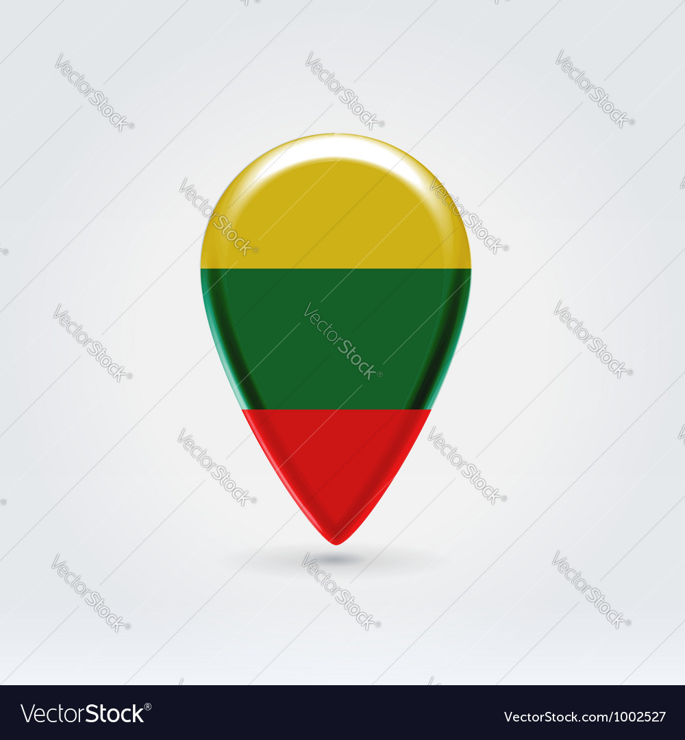 Lithuanian icon point for map vector | Price: 1 Credit (USD $1)