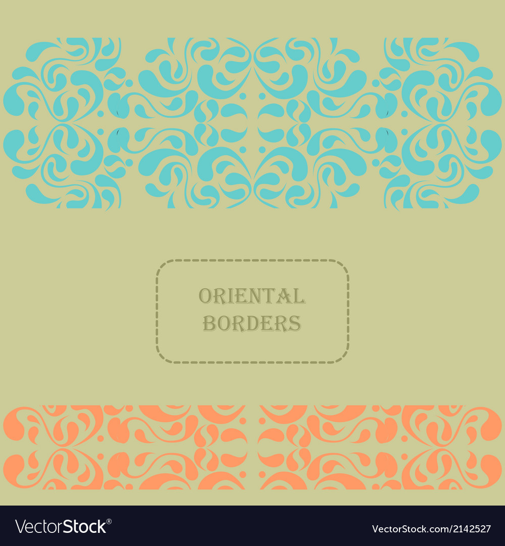 Oriental template vector | Price: 1 Credit (USD $1)