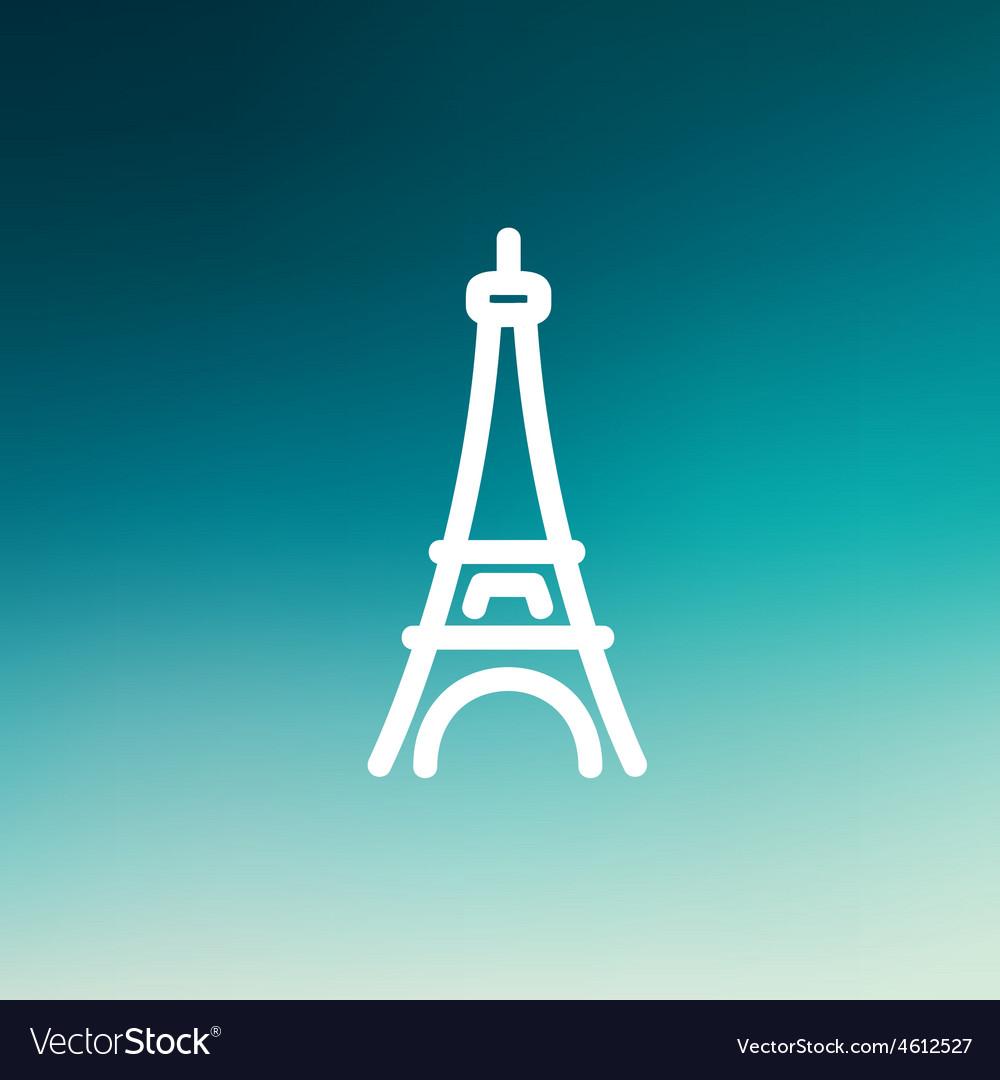 Paris tower thin line icon vector   Price: 1 Credit (USD $1)