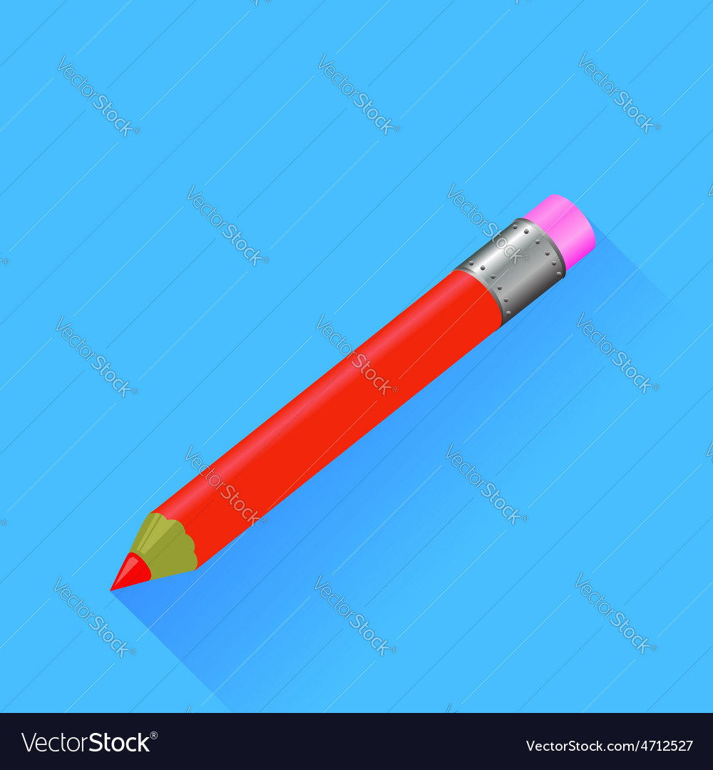 Red pencil vector | Price: 1 Credit (USD $1)