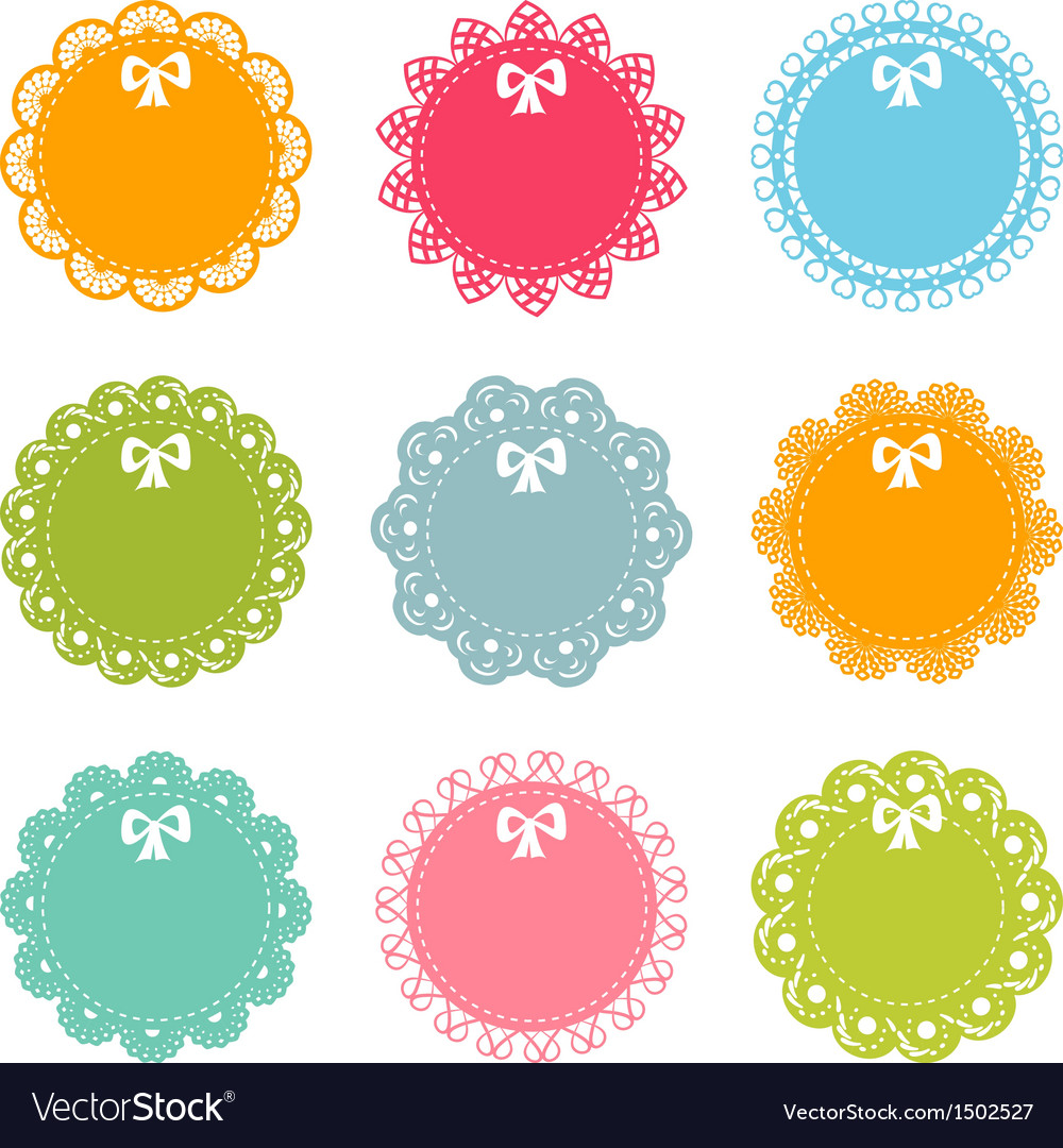 Set of lacy frames vector | Price: 1 Credit (USD $1)