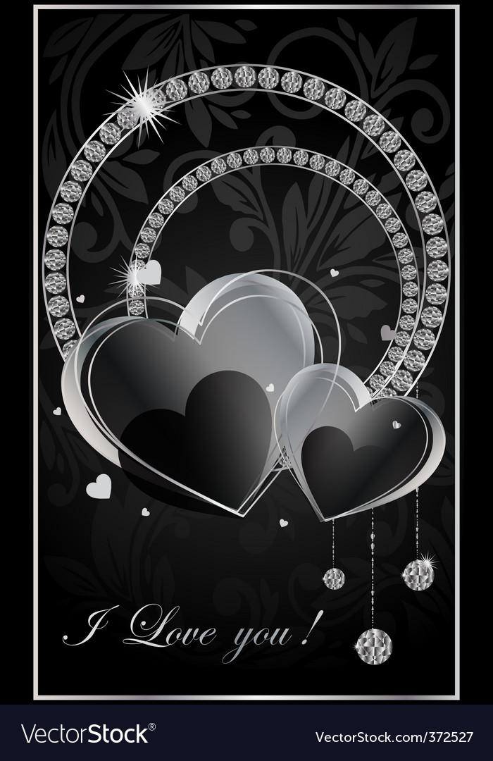 Valentine illustration with the diamonds vector | Price: 1 Credit (USD $1)