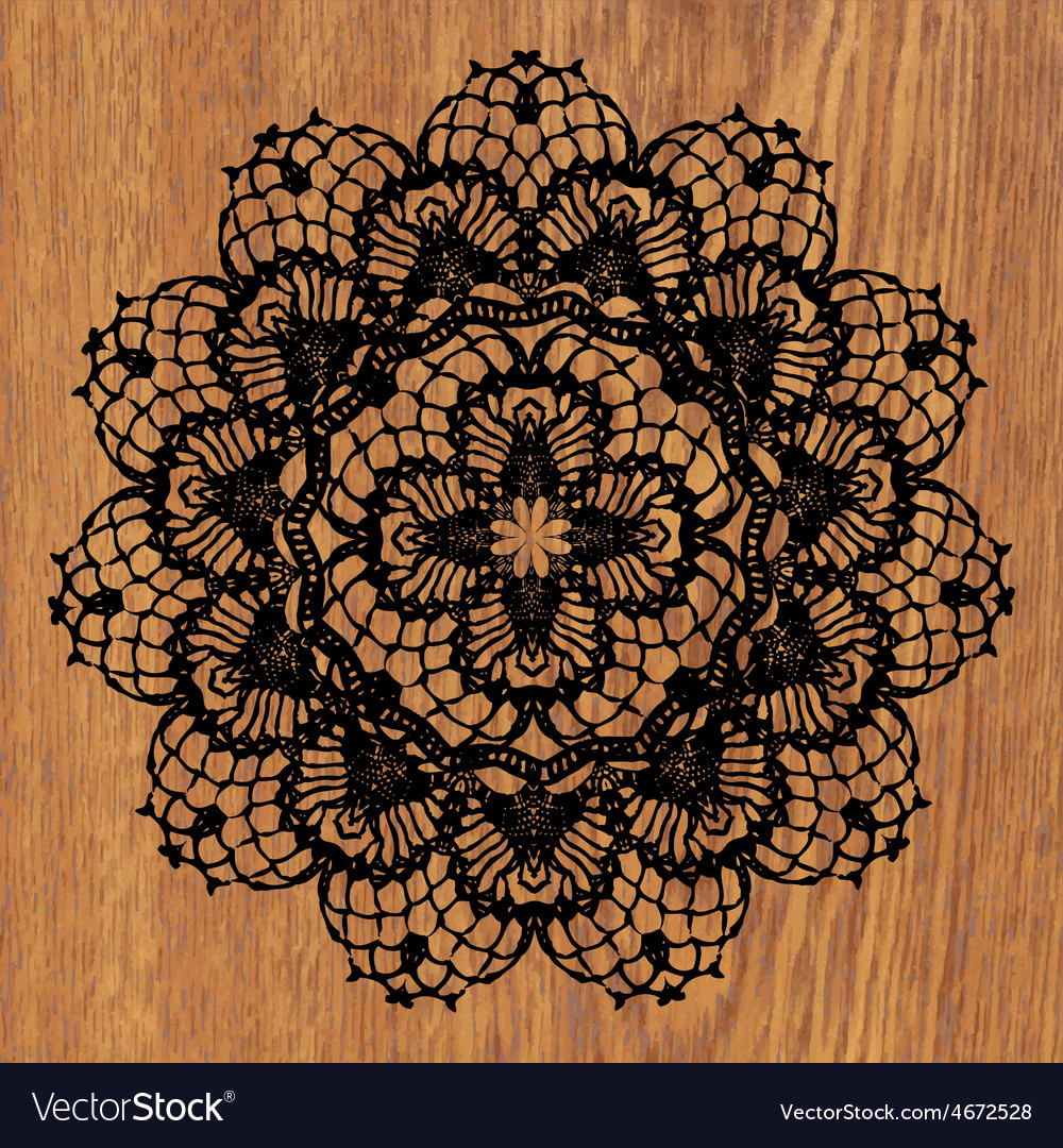 Black crochet doily vector | Price: 1 Credit (USD $1)