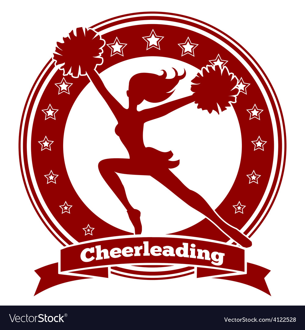 Cheerleader badge or cheer logo vector | Price: 1 Credit (USD $1)