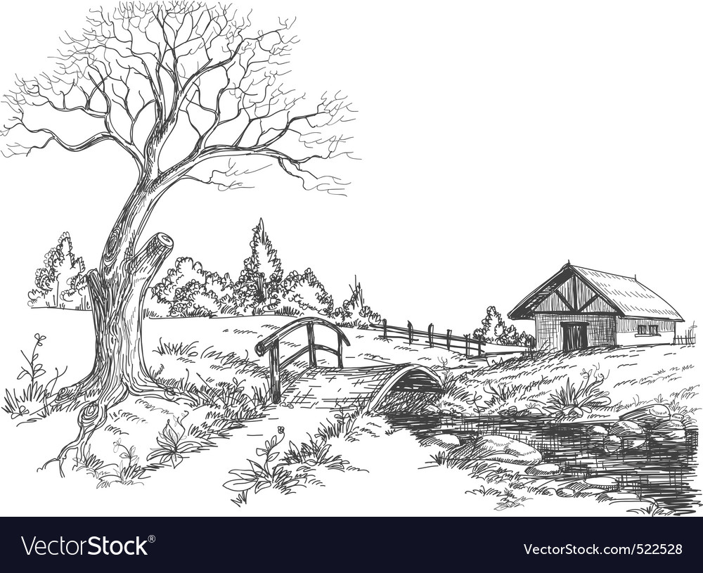 Early spring landscape vector | Price: 1 Credit (USD $1)