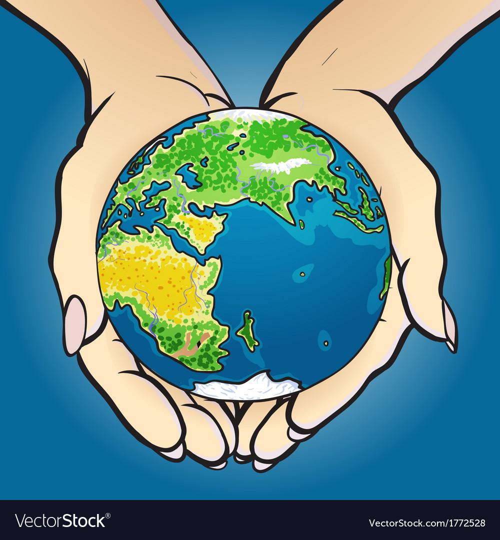Hands giving and holding globe vector   Price: 1 Credit (USD $1)