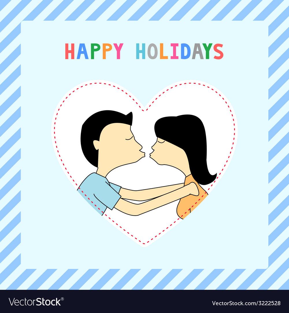 Happy holidays8 vector | Price: 1 Credit (USD $1)